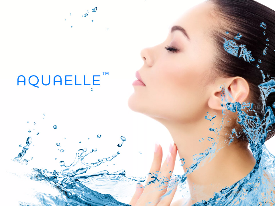 AQUAELLE - New logo, New innovation of cleanliness!